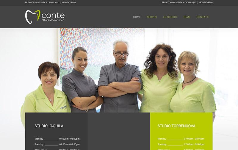sito web desktop dentista conte