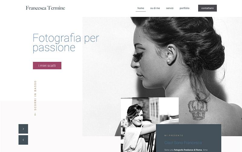 Sito Web Francesca Termine Fotografa